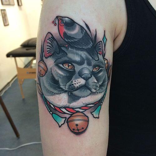 Cattoo Cat Tattoo Hamburg Black Cat Tatt69