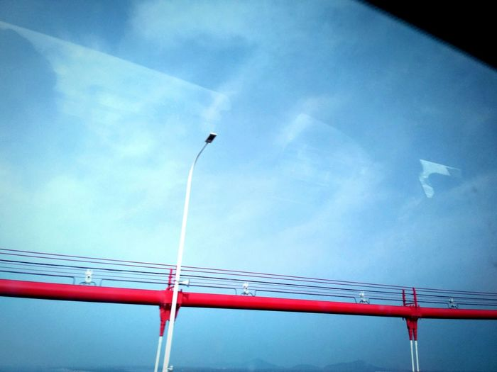 A part of Chinese Chang River Bridge. Sky Red Window View My Hometown