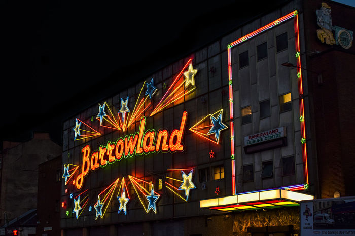 Barrowland Ballroom Glasgow  Architecture Barrowlands Building Building Exterior Built Structure City Communication Hanging Illuminated Information Low Angle View Multi Colored Nature Neon Night No People Outdoors Sign Store Text Western Script Adventures In The City