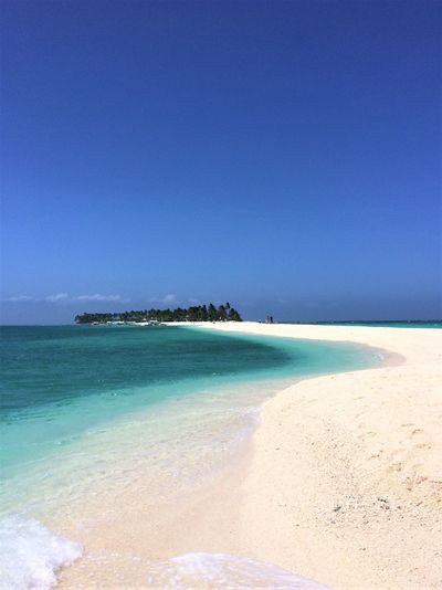 Beach Blue Clear Sky Horizon Over Water Island Kalanggaman Island Philippines Sandbanks Sandbar Scenics Sea Tranquility Water Vacations Travel