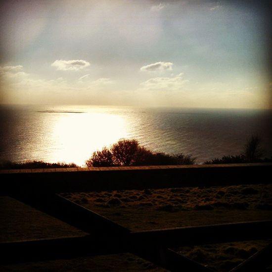 Seaview Sea Chesilbeach Coastroad sunset countryside