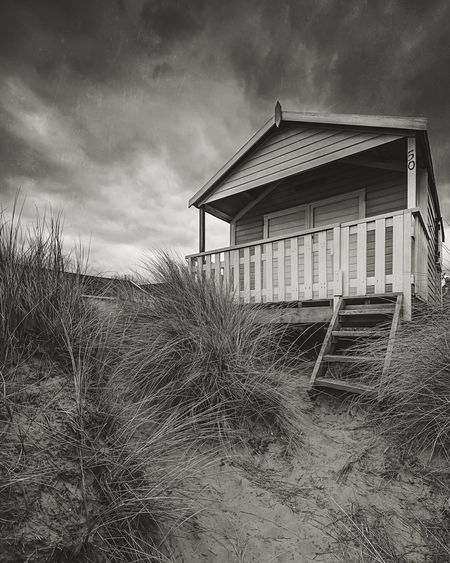 Hut Days Built Structure Architecture Beachphotography Beach Huts Beach Sand Dune Sky And Clouds Skyporn Monochrome Art Is Everywhere Bw Photography BW Landscape Beauty In Nature Grass Tranquil Scene No People Outdoors Norfolk Uk Hunstanton Seaside British Seaside Black And White Friday