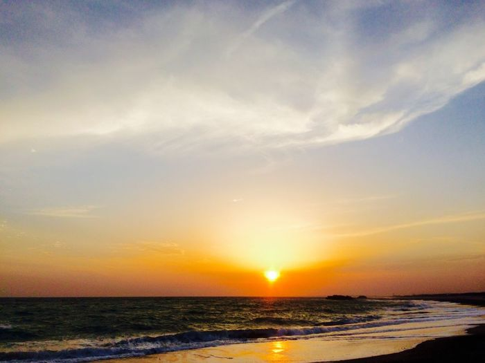 Sunset in Japan Sunset_collection Sunlight Sunset Sky Water Sea Beauty In Nature Scenics - Nature Sunset Beach Cloud - Sky Horizon Over Water Horizon Sun Orange Color Tranquility Land Idyllic Tranquil Scene Nature Outdoors No People