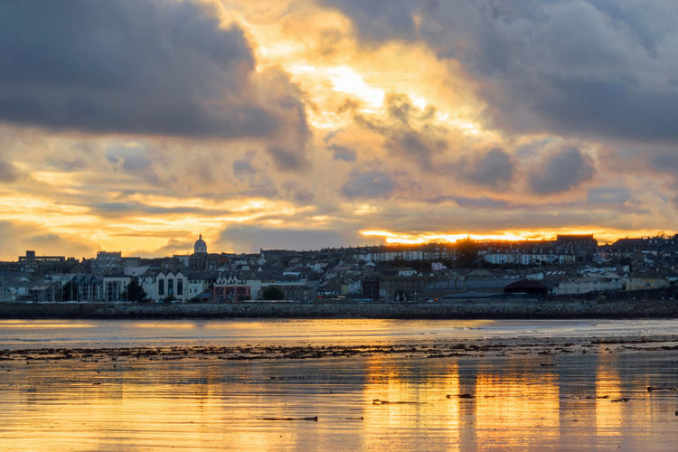 Penzance at Sunset - Cornwall UK Cloud - Sky Building Exterior Architecture Sky Water Built Structure Nature Building Sunset No People Travel Destinations Penzance  Bank Building Domestic Animals Clouds Cornwall Cornwall Beach Cornwall Uk