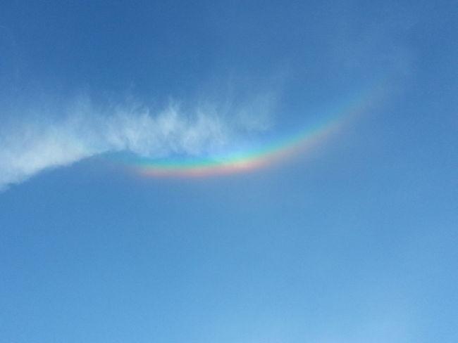 Rainbow without rain Rainbow Sky Colors Of Nature Colorful Sky Sun