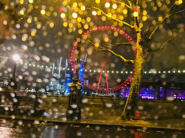 London Eye at Rainy Night #mysecretlondon London Eye Theholysin Tadaa Community United Kingdom #londoneye Ferris Wheel Architecture Amusement Park Cityscape EyeEm Ready