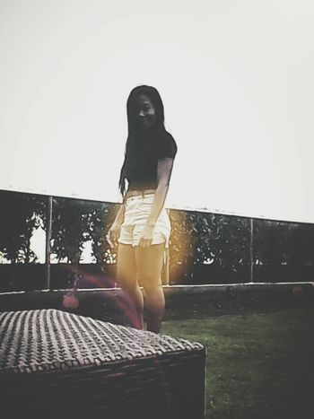 @The Lake Hotel At Tagaytay City Philipines!Just Chilling Just Me Beautiful Sunset Shine On My Leegs...lol