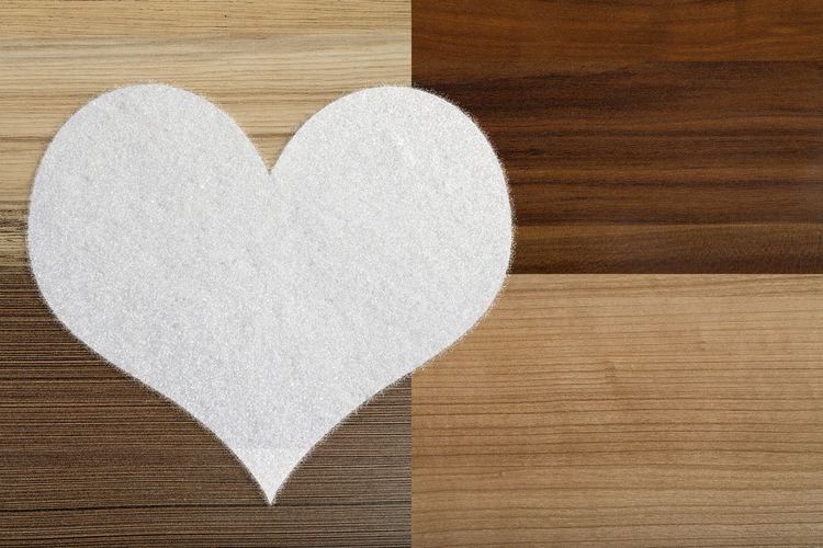 Close-up of heart shape made of wood