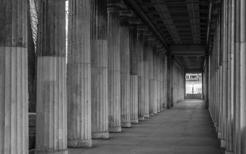 Corridor of colonnade