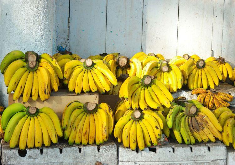 Close-up of yellow fruits on display at market