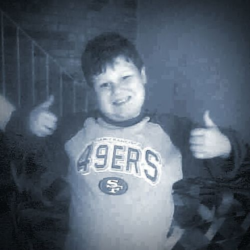 Football Fever My Son ❤ Thumbs Up ! San Francisco 49ers Football Fan