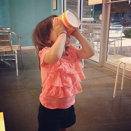In case y'all were wondering... This is how you finish your frozen yogurt .. Toddler Style @yousaywhenyogurt Yousaywhenyogurt Toddler  TerribleTwos Frozenyogurt april122014 saturdaynight springtime springhassprung warmweather ilovefl