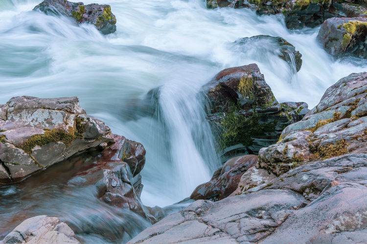 Water Long Exposure Motion Blurred Motion Scenics - Nature Rock Beauty In Nature Rock - Object Flowing Water Solid Waterfall No People Nature Flowing Forest Land Environment Non-urban Scene Outdoors Power In Nature Falling Water