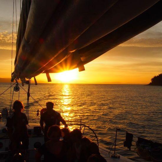 Whitsundays, Australia Sunset Sunset_collection Sunset Silhouettes Sunsetporn Boat Whitsundays Australia