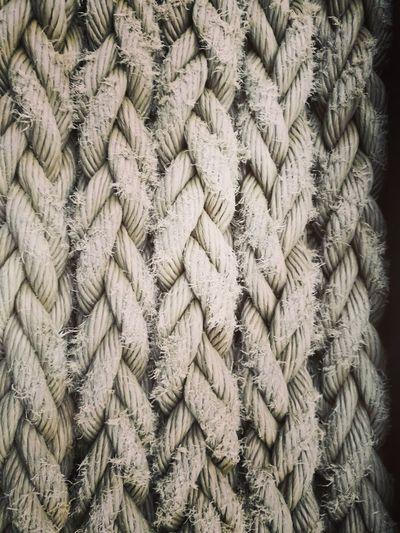 Full Frame Shot Of Braided Ropes