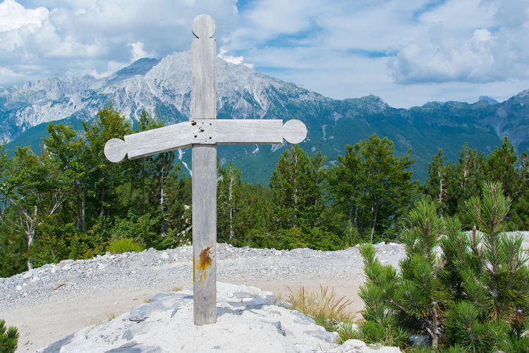 Cross Heaven High Nature Peace Tomb Belief Cloud - Sky Cross Day Mountain Nature No People Outdoor Outdoors Religion Religious  Sky Spirituality Symbol Tranquility