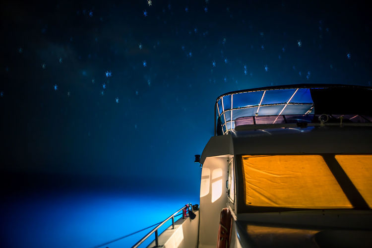 Red Sea diving Yacht Blue Boat Close-up Cropped Dark Illuminated Journey Mode Of Transport Nature Nautical Vessel Night No People Outdoors Part Of Red Sea Saudi Arabia Sky The 2016 EyeEm Awards Transportation Yacht