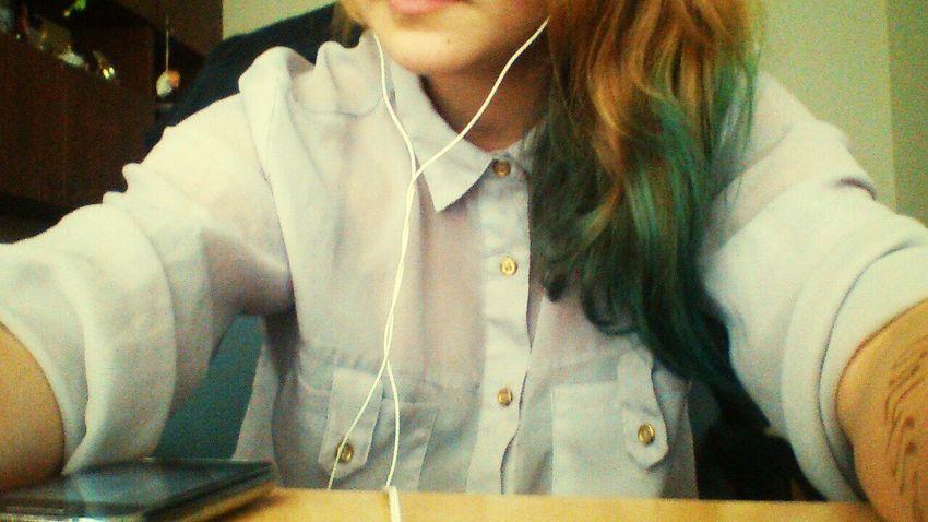 Niebieskiewłosy Sluchawki Nowy Kolor First Eyeem Photo