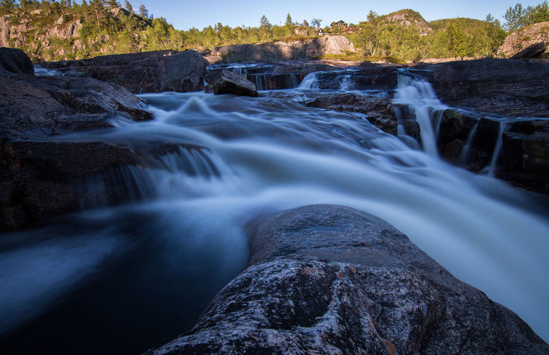 Beauty In Nature Blurred Motion Day Freshness Landscape Long Exposure Motion Nature No People Norway Outdoors River Scenics Social Issues Stream - Flowing Water Tourism Travel Destinations Tree Vacations Water Waterfall Waterfalls