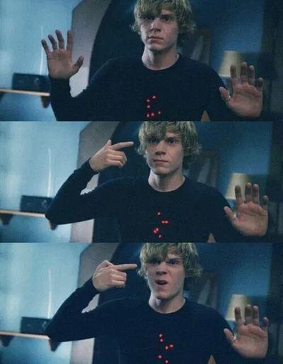 Tate. Evan Peters Tate American Horror Story Ahs Lovehim Psycho Dead Love Gun