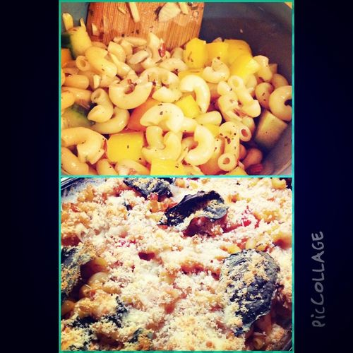 Balsamic macaroni salad and Italian Baked Chicken Pastina for dinner ;)