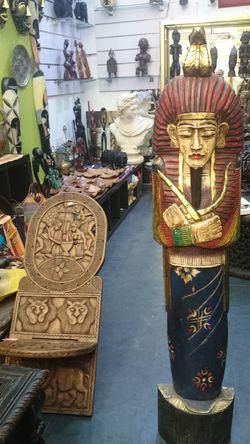 Arte Africano En Bois De Madera Art African Camerun Egiptian Egipcio