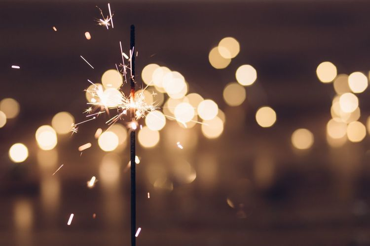Defocused Illuminated Arts Culture And Entertainment Backgrounds Lighting Equipment Close-up Firework - Man Made Object Sparkler Exploding Glowing Entertainment Firework Sparks Firework Display