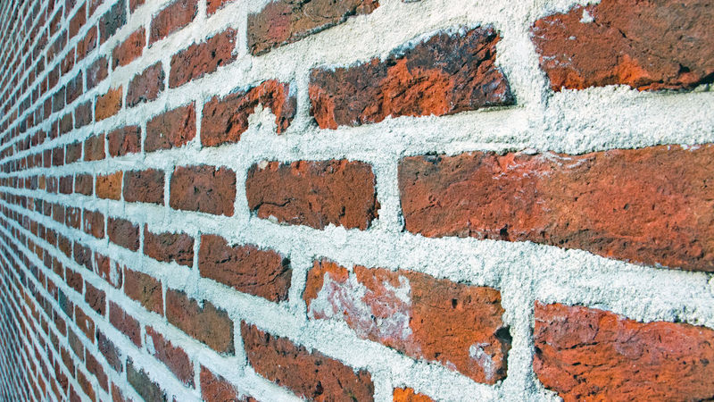 Another brick in the wall... Architecture Backgrounds Brick Wall Building Exterior Built Structure Close-up Day Full Frame Multi Colored No People Outdoors Paint Textured  Wall - Building Feature