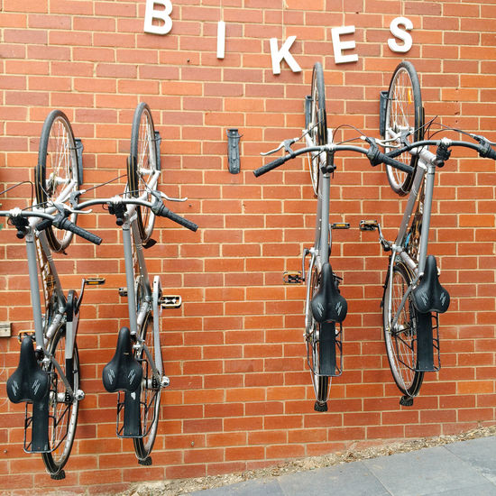 Beechworth Bikes Bicycles Hanging Up Wall Cycling