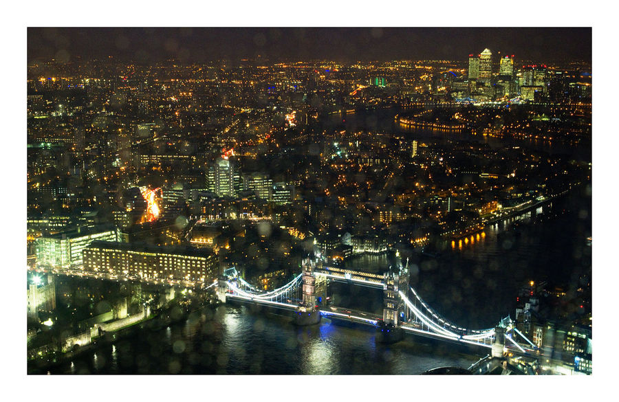 Architecture Bridge - Man Made Structure Built Structure City Cityscape Illuminated London Night River Thames Landscapes With WhiteWall Shard View From Above View From The Shard pmg_lon A Birds's Eye View