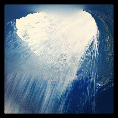Beautiful hike up to Doughtnut Falls in Utah. Waterfall