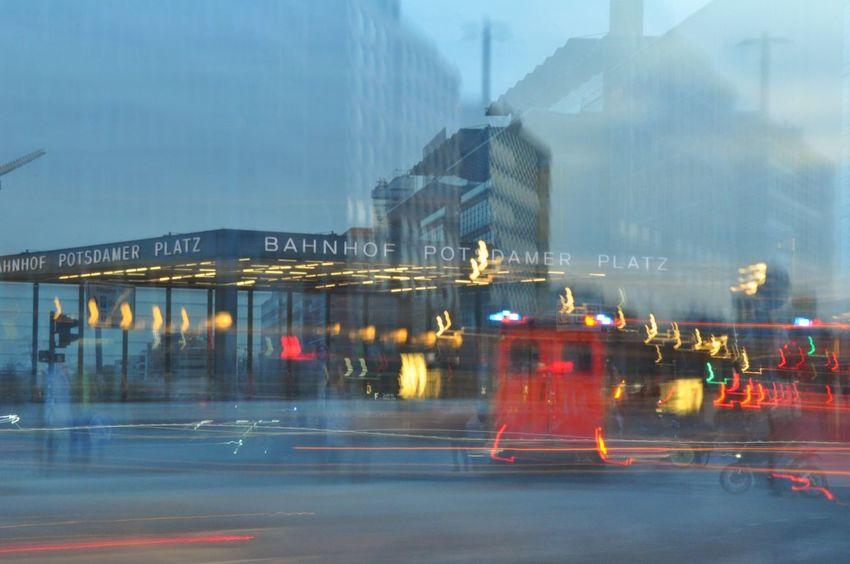 Moving Traffic Blue Hour Dusk Dusk In The City Potsdamer Platz Berliner Ansichten Berlin Photography In Motion Streetphotography