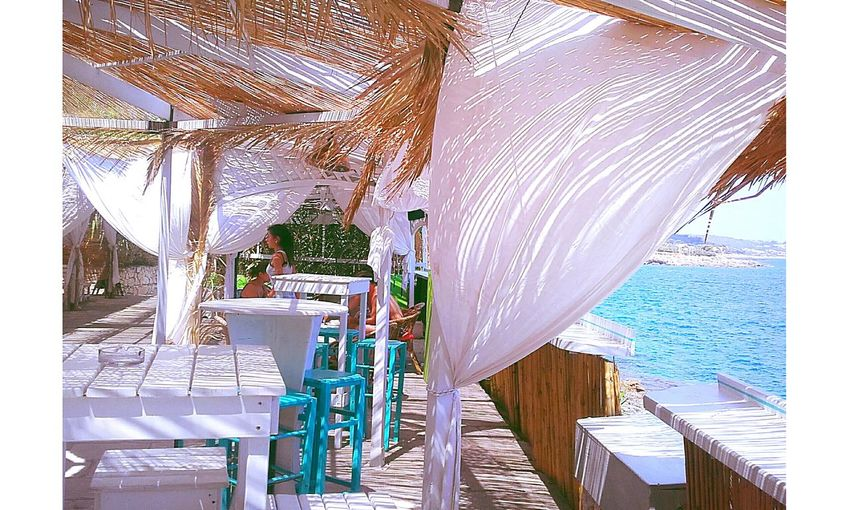Bord De Mer Pouilles Italie Vacances Air Marin Bar Sea Vacancy Cafe Sea Air