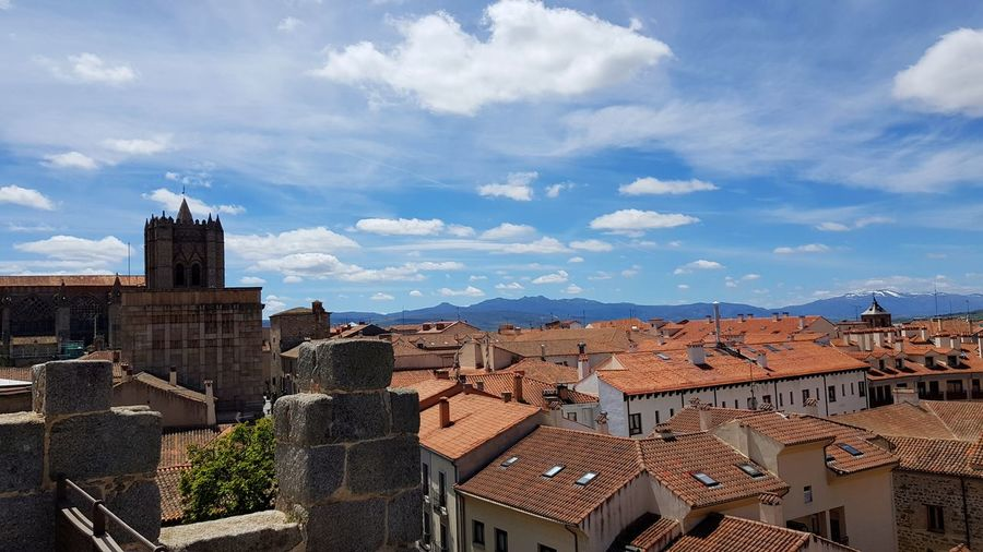 Avila Old Buildings Medieval Mediterranean  EyeEm Selects Cityscape Sky Architecture Residential District Crowded Tiled Roof  Row House Townhouse Housing Development Residential Structure Residential Building Roman Numeral Roof Tile Roof TOWNSCAPE Settlement Human Settlement