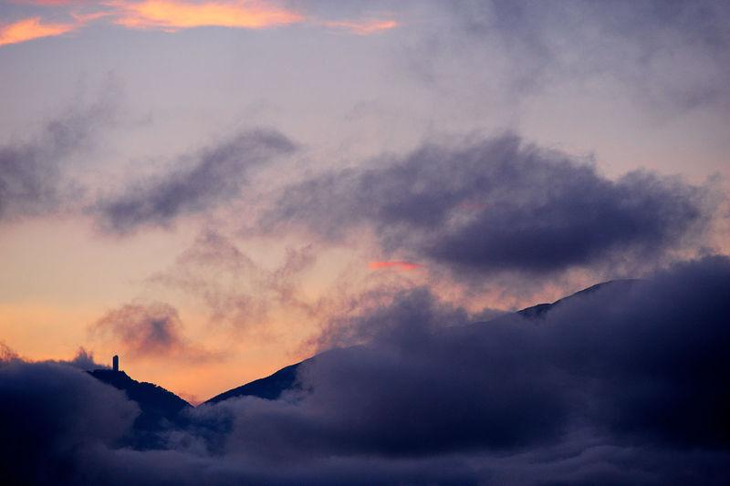 El Avila  El Avila .Caracas Venezuela Beauty In Nature Cloud - Sky Cloudscape Dramatic Sky Dusk Idyllic Low Angle View Majestic Mountain Mountain Peak Nature No People Orange Color Outdoors Scenics - Nature Silhouette Sky Sunset Tranquil Scene Tranquility