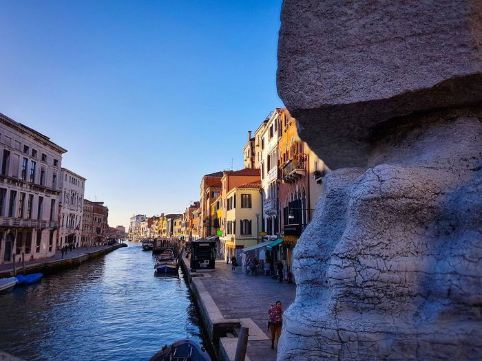 Venezia Veneto Italy View From Ponte Delle Guglie Bridges Zoomorphic Base Pinnacles Canals Water Reflections From Close-up To Landscape Architecture Travel Destinations