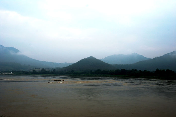 Beautiful Mountain and river in Loei, Thailand. Beautiful Nature River View Thailand Beauty In Nature Day Fog Lake Landscape Loei,thailand Mountain Mountain And River Mountain Range Mountains And Sky Nature No People Outdoors River Scenics Sky Tranquil Scene Tranquility Water