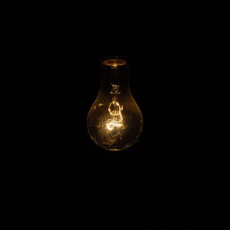 No lights... Alone.. Electricity  Black Background Lighting Equipment Light Bulb Single Object Filament Illuminated No People Technology Rear View Indoors  EyeEm LOST IN London Your Ticket To Europe Mix Yourself A Good Time Built Structure Rural Scene EyeEm Selects The Week On EyeEm