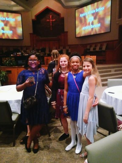 Sports banquet at Bartlett Baptist Church - Appling MS dance team Full Length Standing Group Of People People Arts Culture And Entertainment Child Togetherness Females Social Gathering