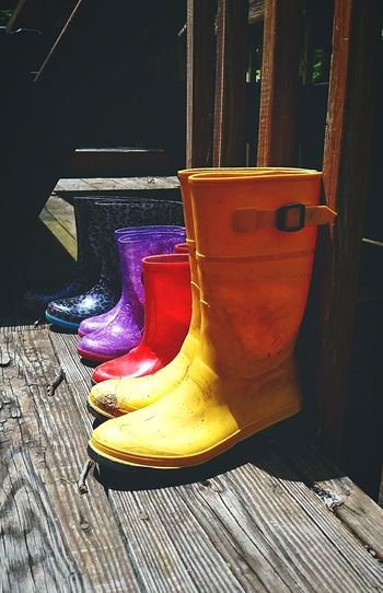 Its all I've got for the k***y boots Saturdaysong_eyeemchallenge Boots Colorful Vibrant Color In A Row Mud Boots Multi Colored No People The EyeEm Collection EyeEm Diversity The Premium Collection This Is Family