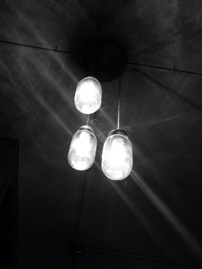 Lights And Shadows Looking Up Indoors  Illuminated Ceiling Satx Blackandwhite City Life