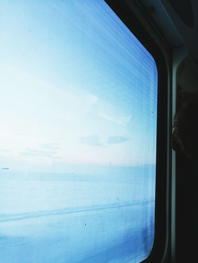Snow ❄ Train In The Train Traveling Travel Winter Cold Winter ❄⛄ White Blue Train Window Land Snowlandscape EyeEmNewHere Faded Relaxing Travel Photography Travelling