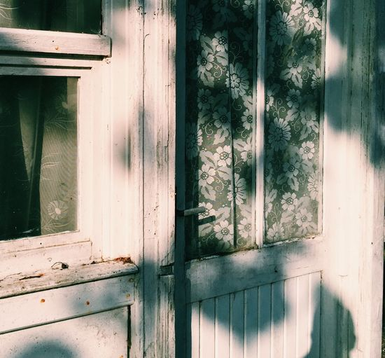 Day Window Architecture Wood - Material No People Built Structure Plant Building Exterior Building House Old Entrance Shadow Door Weathered Sunlight Outdoors