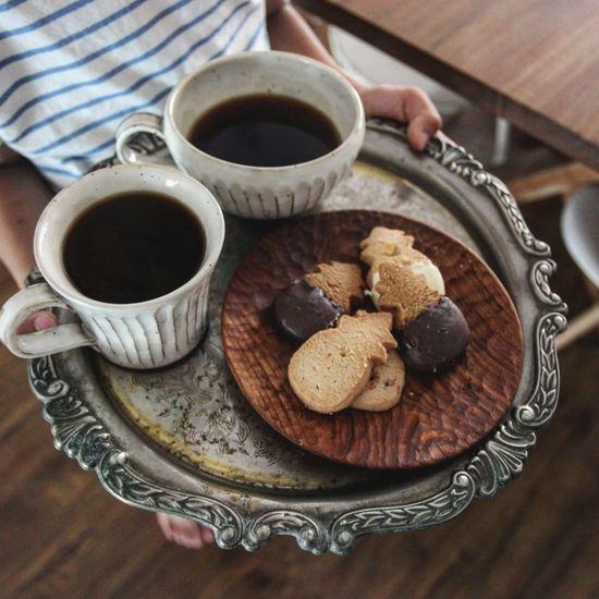 下午茶 Drink Tea - Hot Drink Coffee Break Coffee - Drink Wood - Material Tray Coffee Cup Close-up Sweet Food Food And Drink