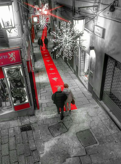 Red stripe Streetphotography Colorsplash Shoot The Street With Pointer Footwear No Edit No Fun