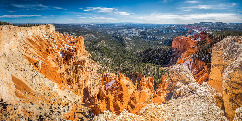 Bryce canyon national park, Utah, USA Cloudy Nature Panorama Utah Beauty In Nature Bryce Canyon National Park Canyon Cliff Day Forest Valley