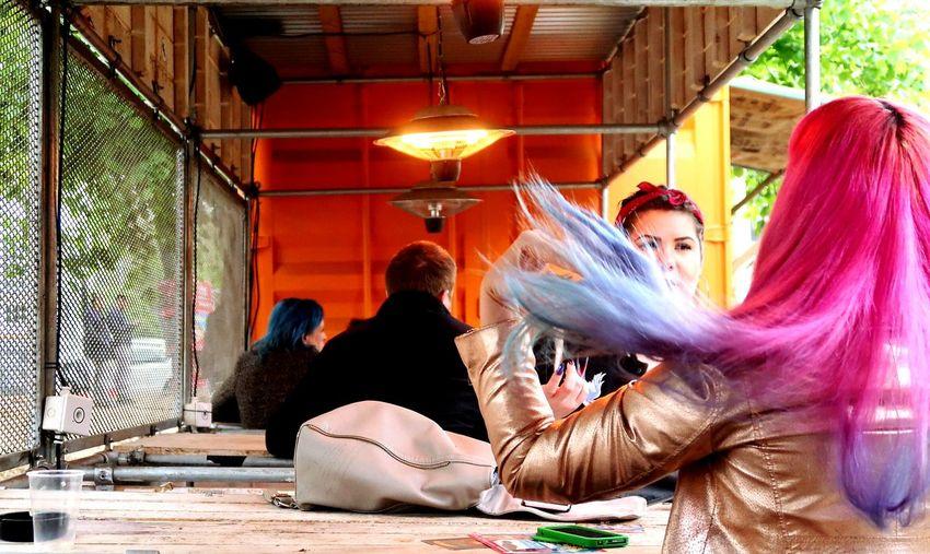 Hair Hair Colour  Brighton Brighton Fringe Beer Garden Bright Hair Hair Flip