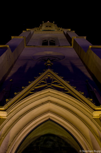 Churchtower in Walldorf Badenwürttemberg Germany Night Long Exposure Sky Lights Yellow Old Buildings City Cityscapes Normanrupp Pentax