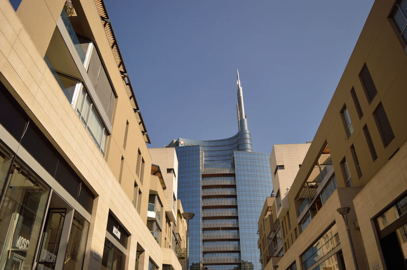 Architecture Architecture Building Building Exterior Built Structure City City Clear Sky Day Innovative Design Landscape Low Angle View Milan Milano Nature Noclouds Outdoors Shape Skyporn Skyscraper Technology Vertical Forest