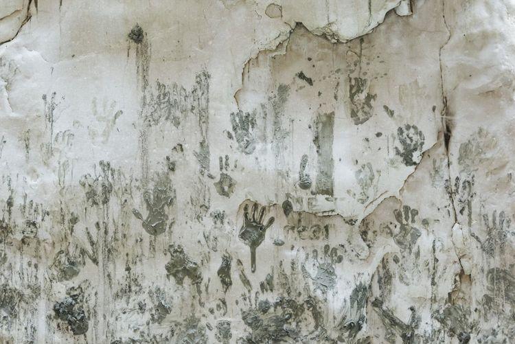Muddy Gray Fingers Hands Rock Formation Mud Bath Backgrounds Full Frame Textured  Pattern Close-up Grunge Scratched Smudged Handprint Fingerprint Mottled Textured Effect Paint